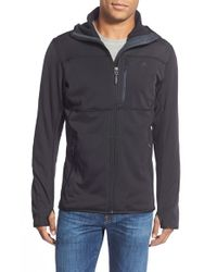 Adidas | Black 'mountainglow' Hooded Fleece Jacket for Men | Lyst