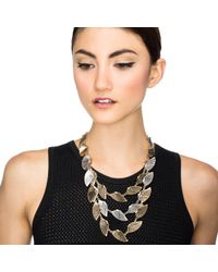 Lulu Frost | Metallic Horizon Triple Necklace | Lyst