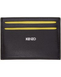 KENZO Black And Yellow List Card Holder for men