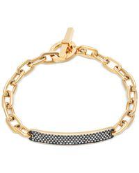 Michael Kors | Metallic Pavé Bar Id Toggle Bracelet | Lyst