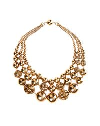 Etro | Metallic Gold Bead Necklace | Lyst