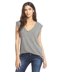 Pam & Gela | Gray V-neck Mantra Muscle Tee | Lyst
