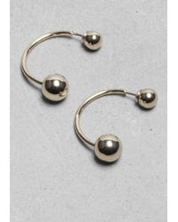 & Other Stories | Metallic Ball Drop Back Earrings | Lyst