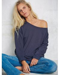 Free People - Blue Womens Portland Pullover - Lyst