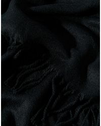 Pieces - Black Oversized Blanket Wrap - Lyst