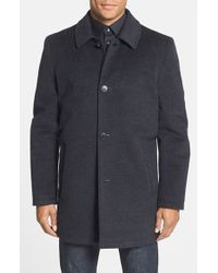 Vince Camuto | Gray Water Repellent Wool-Blend Raincoat for Men | Lyst