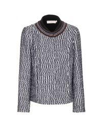 Tory Burch Black Marble Tweed Jacket