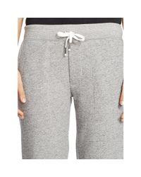 Polo Ralph Lauren - Gray Fleece Drawstring Pant - Lyst