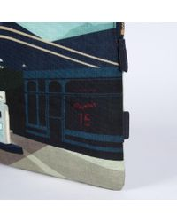 """Paul Smith - Blue 'Graphic Garage' Print 15"""" Laptop Sleeve for Men - Lyst"""