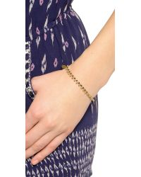 Shashi | Metallic Lilu Gold Ball Bracelet - Gold/black | Lyst