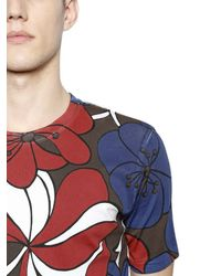Marni | Blue Floral Printed Cotton Jersey T-shirt for Men | Lyst