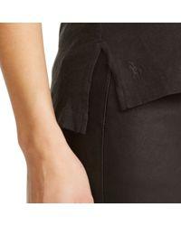 Polo Ralph Lauren | Black Cotton Jersey V-neck Tee | Lyst