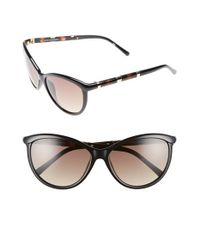 Diane von Furstenberg Black 'reese' 58mm Cat Eye Sunglasses