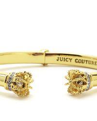 Juicy Couture | Metallic Juicy Crown Bangle | Lyst