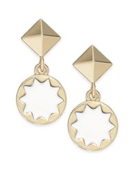 House of Harlow 1960 | Metallic Goldtone Sunburst Enamel Drop Earrings | Lyst