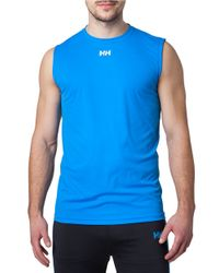 Helly Hansen | Blue Quick-dry Training Tank for Men | Lyst