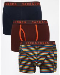 Jack & Jones | Multicolor 3 Pack Trunks With Stripe for Men | Lyst