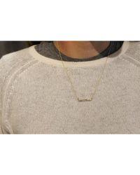 Adornia - Metallic 14k Yellow Gold Diamond Bar Barra Necklace - Lyst