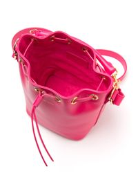 Saint Laurent - Purple Small Emmanuelle Bucket Bag - Lyst