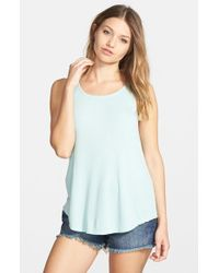 Volcom - Blue 'twisted Mind' Tank - Lyst