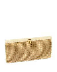 La Regale | Metallic Beaded Mesh Wallet Clutch | Lyst