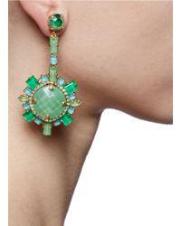 Aerin - Jade Green Round Stone Earrings - Lyst