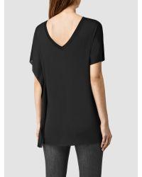 AllSaints Black Astra T-shirt