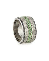 Stephen Webster Green Men's Sapphire & Tsavorite Ring for men