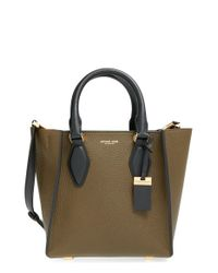 Michael Kors | Blue 'small Gracie' Calfskin Leather Tote | Lyst