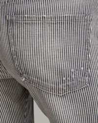 Citizens of Humanity - Gray Jeans Dylan Relaxed Boyfriend in Fremont Stripe - Lyst