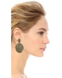 Aurelie Bidermann | Black Lace Earrings | Lyst