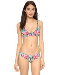 Red Carter | Multicolor Shangri La Bralette Bikini Top | Lyst