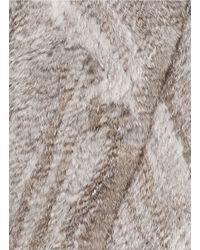Elizabeth and James Gray 'anna' Rabbit Fur Lamb Leather Stretch Gilet