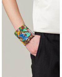 Stella Jean Brown Cut-Out Tropical Cuff Bracelet