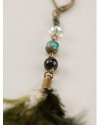 Isabel Marant | Green Feather Earrings | Lyst