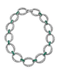 Lagos - Metallic Venus Malachite Link Necklace - Lyst