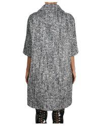 Albino - Black Twill Wool Coat - Lyst