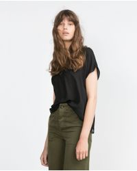 Zara | Black Camisole Top | Lyst