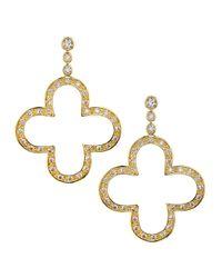Freida Rothman | Green Double-drop Cz & Crystal Disc Earrings | Lyst