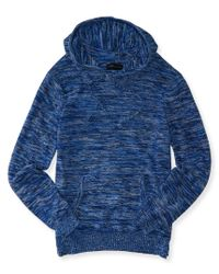 Aéropostale | Blue Space Dye Pullover Sweater Hoodie | Lyst