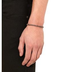 Paul Smith - Brown Rose-Tone Silver And Cotton Bracelet for Men - Lyst