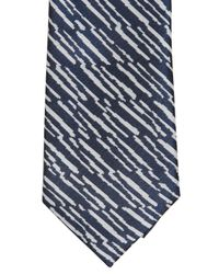 KENZO Blue 7cm Silk Jacquard Tie for men