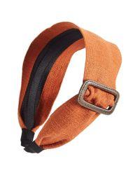 Ficcare - Orange Buckle Headband - Lyst