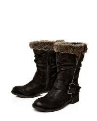 Moda In Pelle Black Folina Low Casual Short Boots