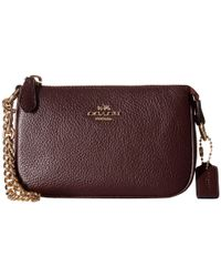 COACH | Purple Polished Pebble Nolita Wristlet 14 | Lyst