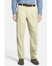 Bills Khakis - Green 'm2' Standard Fit Pleated Cotton Poplin Pants for Men - Lyst
