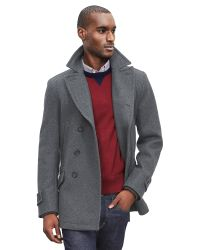 Banana Republic | Gray Wool-blend Peacoat for Men | Lyst