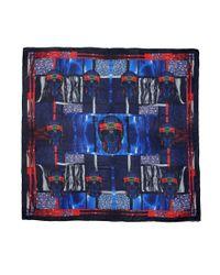 Alexander McQueen - Blue Patchwork Print Silk Scarf - Lyst