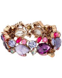 Betsey Johnson | Purple Fall Follies Rhinestone Bracelet | Lyst