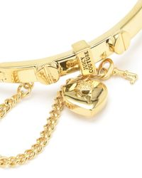 Juicy Couture | Metallic Heart Padlock And Screw Bangle Bracelet | Lyst